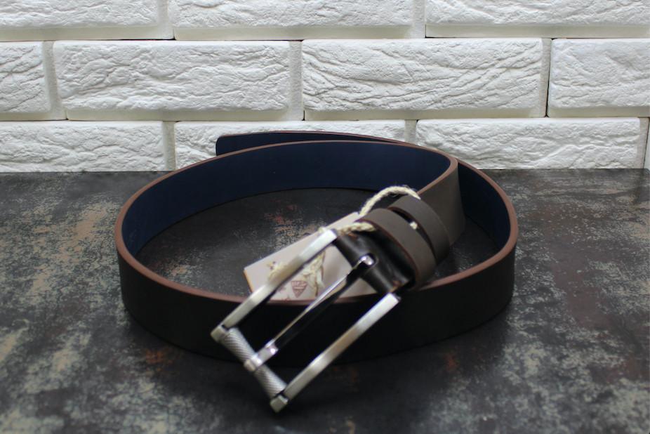 Джинсовый ремень коричневый 4100