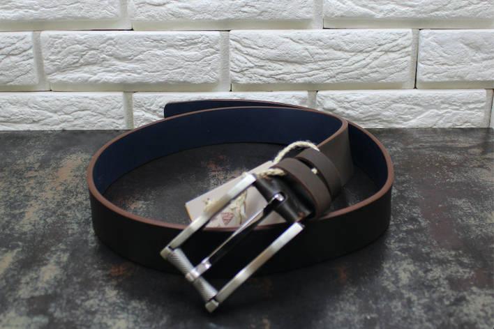 Джинсовый ремень коричневый 4100, фото 2