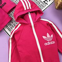 Малиновый спортивный костюм комплект для мальчика Adidas Адидас