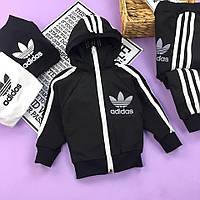Черный спортивный костюм комплект для мальчика Adidas Адидас