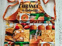 Фартук Передник Фартук Кухонный Tirotex Хлопок 100% Orange Is Optimistic Размер 60*70 См, фото 1