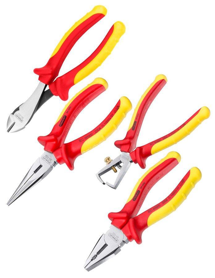 Набор шарнирно-губцевых инструментов для электрика Stanley MaxSteel VDE 1000V, 4 шт (4-84-489)