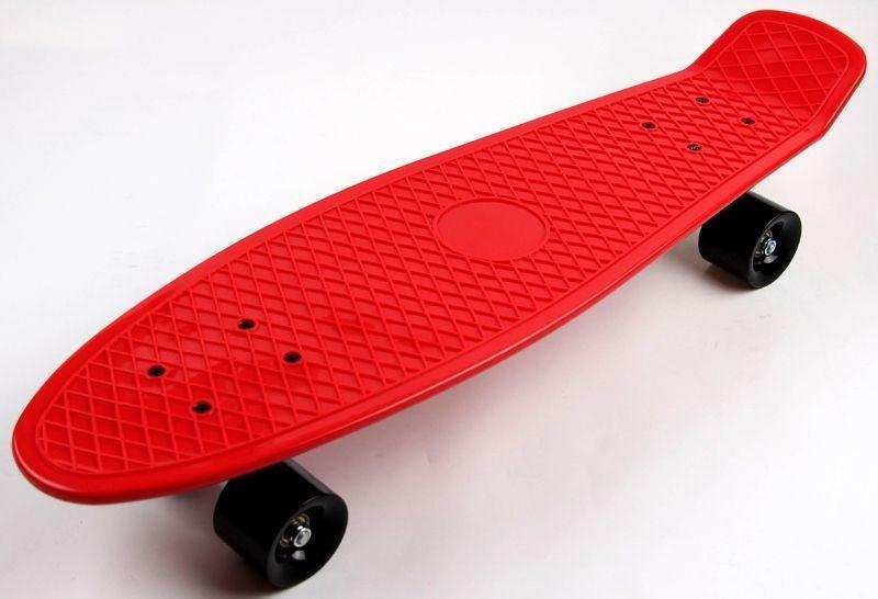 """Скейт - Пенниборд Nickel 27"""" Red Черные колеса"""