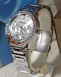 Наручные кварцевые часы HS0043 Серебряного цвета, фото 4
