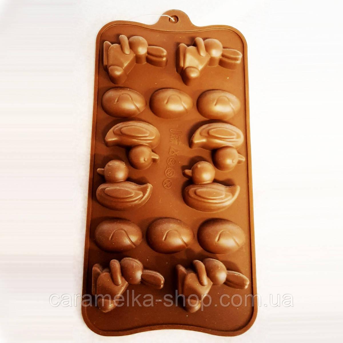 Силіконова форма для цукерок з шоколаду великодня