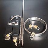 Унисекс стальной фиксатор рук и шеи с анальным крюком - анальное связующее устройство BDSM, фото 3