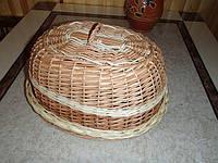 Хлебница с крышкой плетенная из лозы,овальная, фото 1