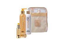 Набор GKHair Gold шампунь, кондиционер, сыворотка для волос 250+250+30мл