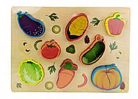 Деревянная игрушка Рамка-вкладыш MD 1186 (Овощи)