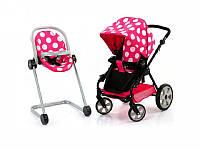 Детская коляска для кукол Icoo 6 в 1 Розовый (D-88844)