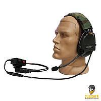 Активная гарнитура TCI Liberator III headband с кнопкой PTT, Olive