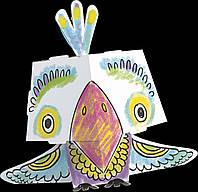 Раскраска 3D «Попугай» (Monumi)