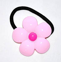 Резинка для волос с пластмассовым цветком (10 шт), фото 1