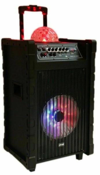 Акустическая система Колонка аккумуляторная DMS K10-10FZ Bluetooth, USB, MP3, Wireless LED