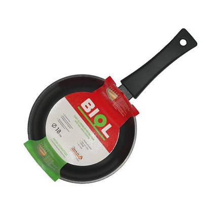 Сковорода з кришкою 18 см Оптима Біол 1804PC, фото 2