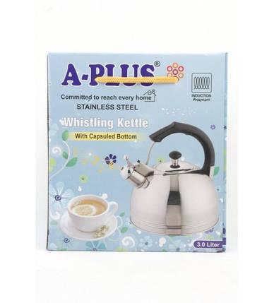 Чайник со свистком 3 л A-Plus AP-1325-WK, фото 2
