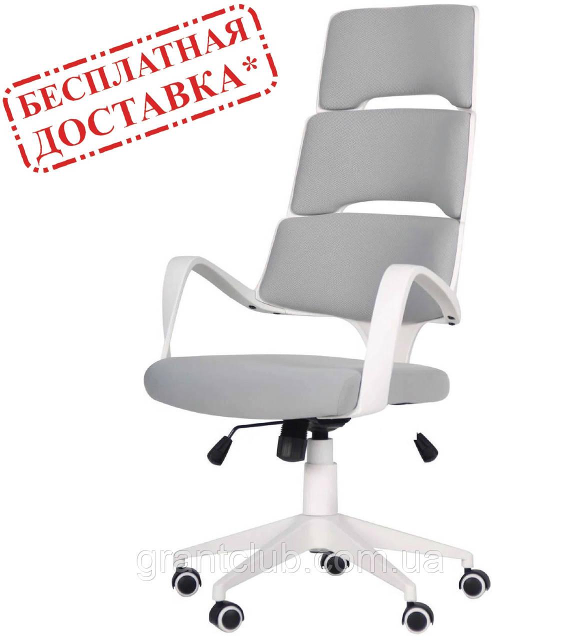Кресло Spiral White светло-серое AMF 545587 (бесплатная адресная доставка)