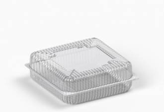 Коробка пластиковая 3500 мл IT-479 (В / Р 21,5 * 21,5см, З / Р 23 * 23см, высота 4.4 * 4.4 = 8.8см) 100 шт. / Ящ