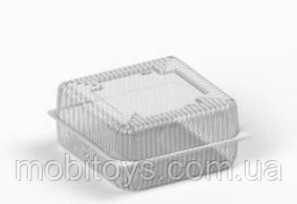Коробка пластиковая 4700 мл IT-480А (В / Р 21,5 * 21,5см, З / Р 23 * 23см, высота 5,5 * 5,5 = 11см) 100 шт. / Ящ