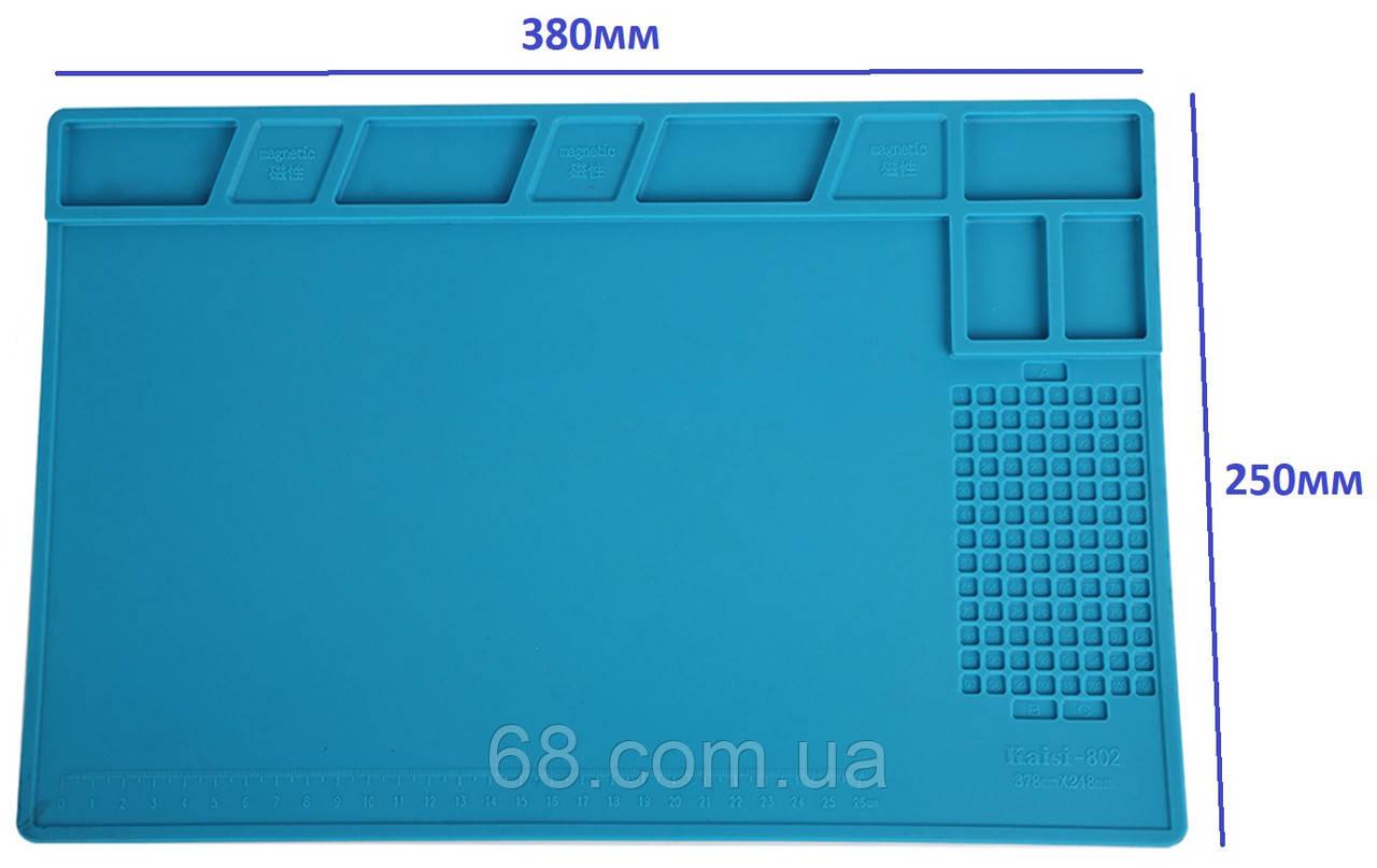 Силиконовый коврик 38х25 см для пайки мобильных телефонов Силіконовий килимок Мат Средний