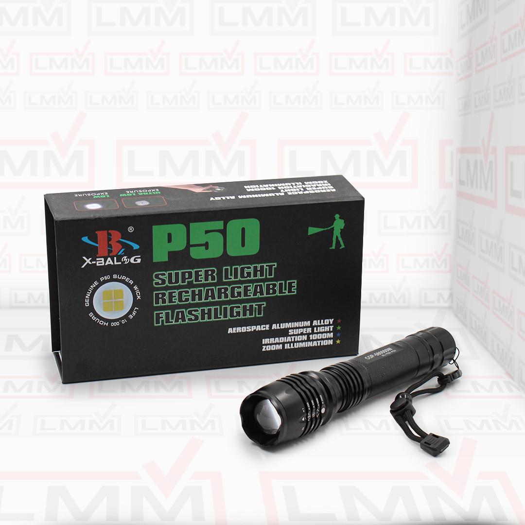 Фонарик BL-P08-P50 COP-58000W 2*18650 Battery