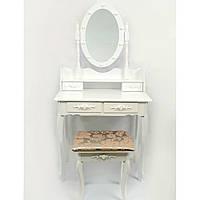 Стол косметический с зеркалом и стулом Bonro B002WL туалетный столик, фото 1