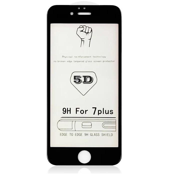 Захисне скло для Apple iPhone 7 Plus (0.3 мм, 5D) чорне