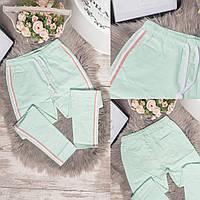 0920-2 бирюзовые Flnn брюки женские летние стрейчевые (25-30, 6 ед.), фото 1