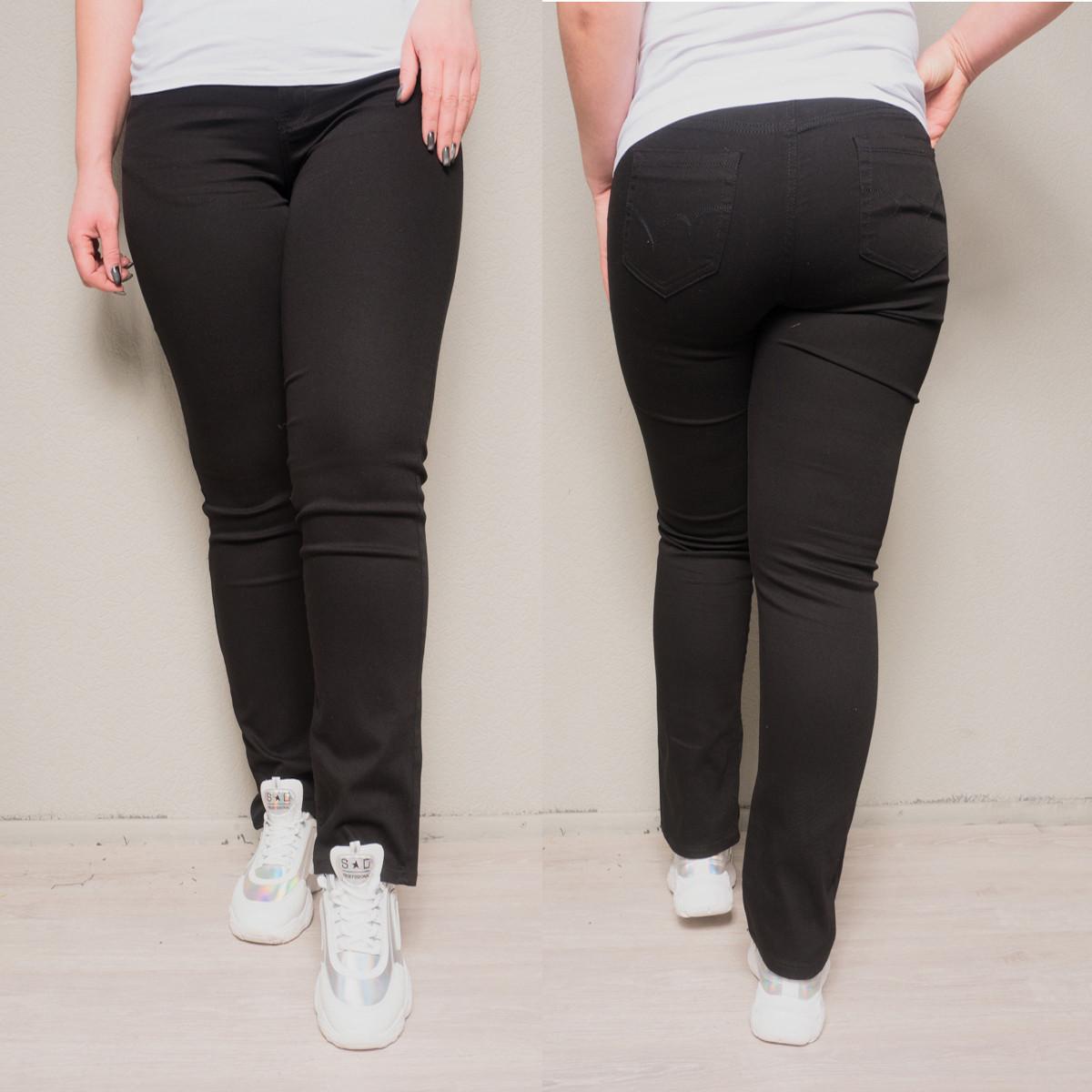 9769-03 черные (A) Sunbird джинсы женские батальные летние стрейчевые (34,35,35,36,36,37, 6 ед.)
