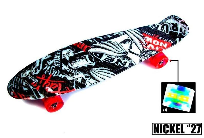 "Пенни борд скейт со светящимися колесами Nickel 27"" street"