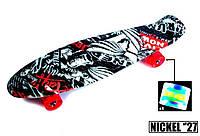 "Пенни борд скейт со светящимися колесами Nickel 27"" street, фото 1"