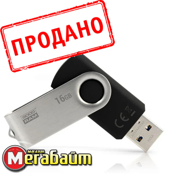 Flash drive USB3.0 16GB GOODRAM UTS3 (Twister) Black (UTS3-0160K0R11)