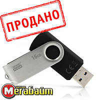 Flash drive USB3.0 16GB GOODRAM UTS3 (Twister) Black (UTS3-0160K0R11), фото 1