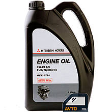 Синтетическое моторное масло Mitsubishi Engine Oil 0W-20 - 4 л