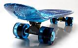 "Скейт скейтборд пенни борд Nickel 27"" светящиеся колеса spice, фото 4"