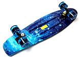 "Скейт скейтборд пенни борд Nickel 27"" светящиеся колеса spice, фото 5"