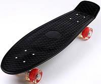 """Пенни борд скейт со светящимися колесами Nickel 27"""" черный, фото 1"""