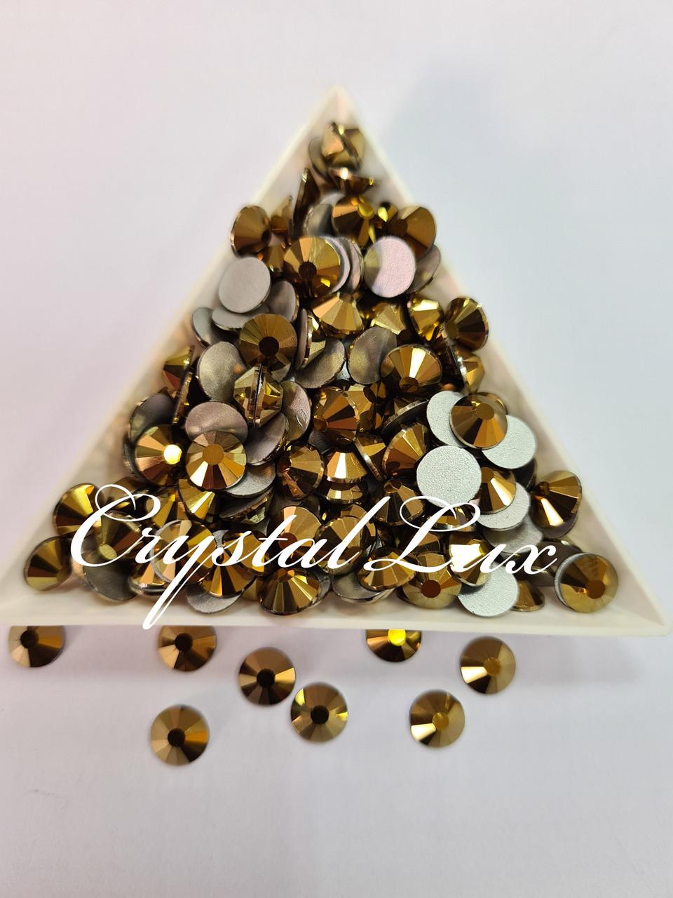 "Стрази ss16 Gold (4,0 мм) 100шт ""Crystal Premium"""