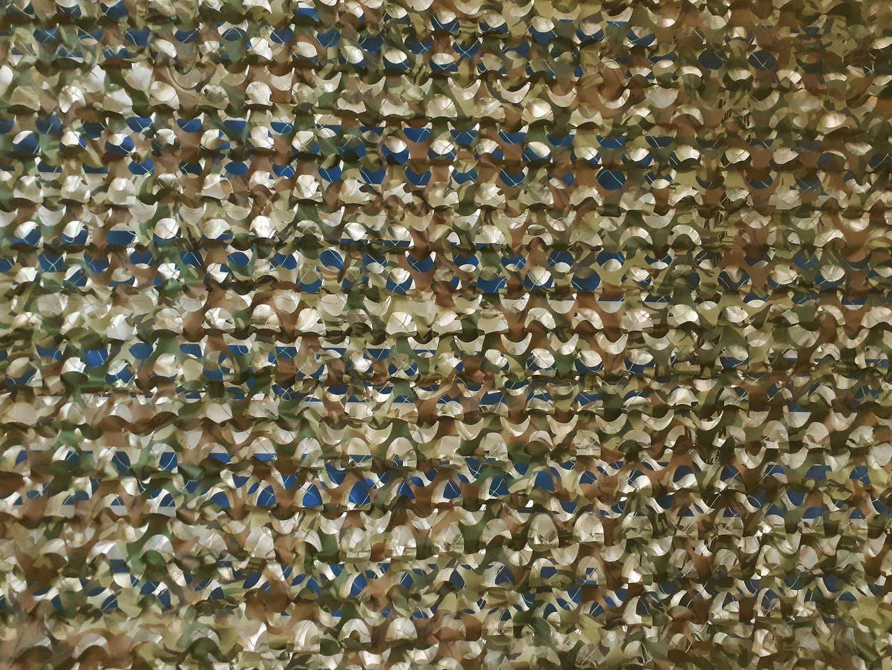 Двухсторонняя маскировочная сетка Camonet Мультикам + Камуфляж 4-х цветный, ткань  LE