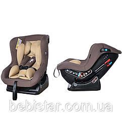 Автокресло детское шоколадное с рождения до 4 лет (0-18кг) с наклоном для сна Tilly Corvet T-521/3 Brown