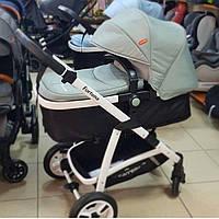 Детская коляска 2в1 универсальная комбинированная Carrello Fortuna коляска трансформер ГОЛУБАЯ , візок дитячий