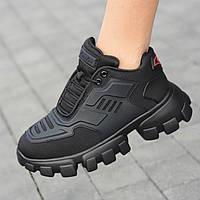 Кроссовки женские черные текстильные модные сетка (код 1131) - кросівки жіночі чорні текстильні модні, фото 1