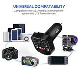 Автомобильный MP3-плеер Bluetooth 4,2 fm-передатчик USB зарядное устройство, фото 6