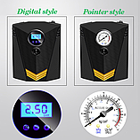 Инфлятор насос воздушный компрессор 150 PSI автомобильный DC 12V цифровой портативный  для шин, фото 3