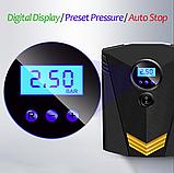 Инфлятор насос воздушный компрессор 150 PSI автомобильный DC 12V цифровой портативный  для шин, фото 4