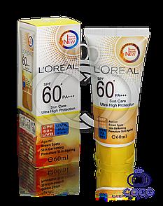 Сонцезахисний крем l'oreal Sun Care Ultra High Protection SPF 60+