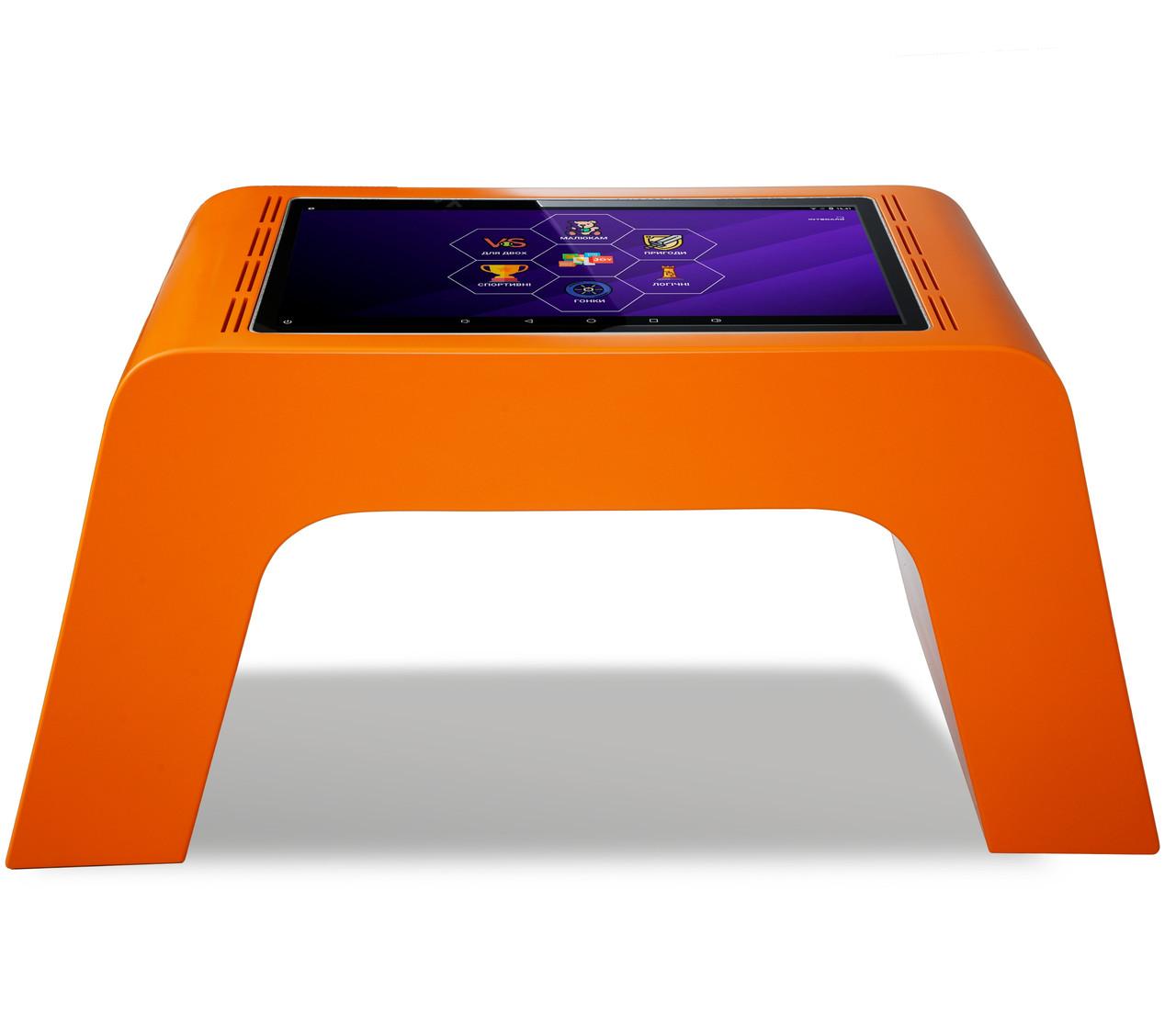 Детский интерактивный стол (оранжевый)