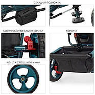 Триколісний велосипед TURBOTRIKE M 3113-21L якісна бюджетна модель, фото 4