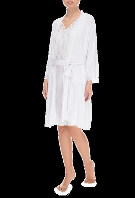 Белый женский халат Suavite Valerie