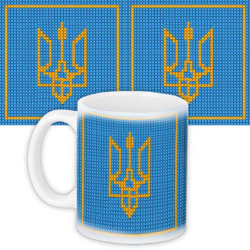 Кружка с принтом Герб України 330 мл (KR_UKR109)